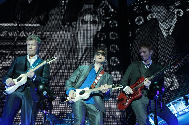 Участники норвежской группы А-ha Магне Фурухольмен, Мортен Харкет и Пол Воктор-Савой.