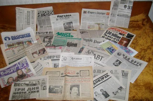 В коллекции Кирилова хранятся газеты на разных языках