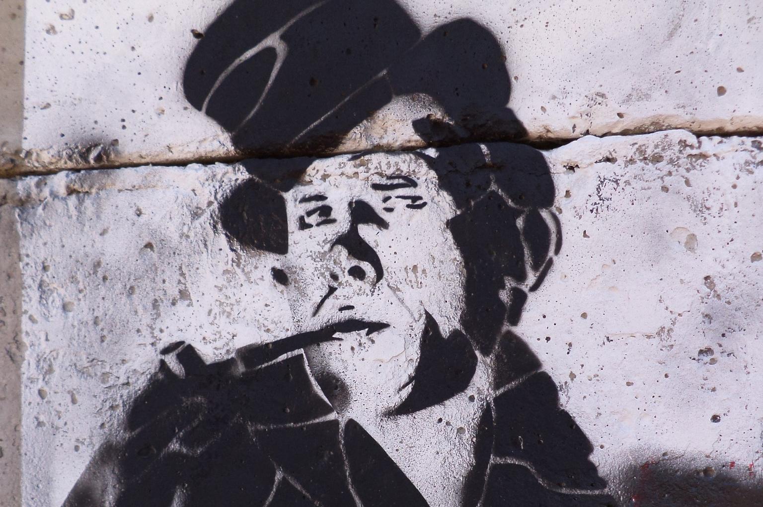 Граффити с портретом Даниила Хармса