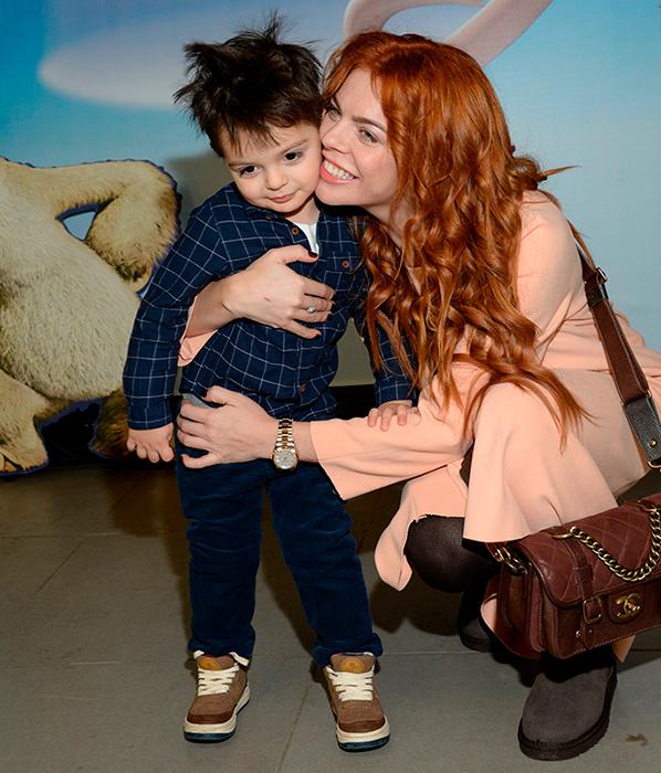 Анастасия Стоцкая с сыном, 2014 г.
