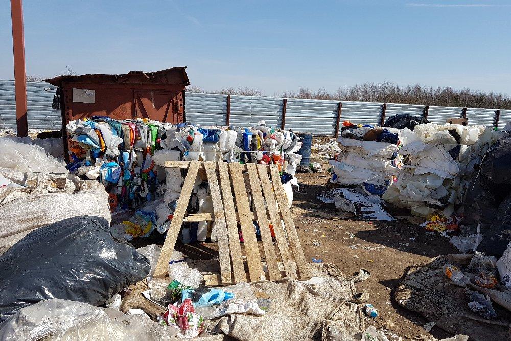 Полигон ТБО в деревне Кауровка Касимовского района