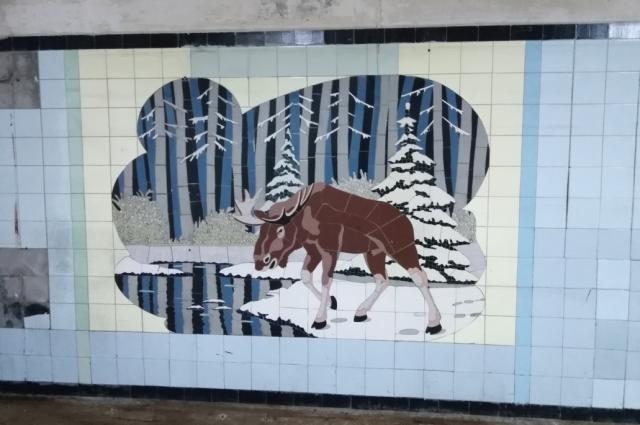 На мозаиках изображены животные, обитающие в Ростовской области