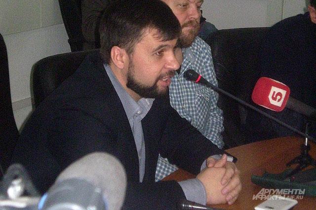 Председатель временного коалиционного правительства провозглашённой Донецкой народной республики Денис Пушилин