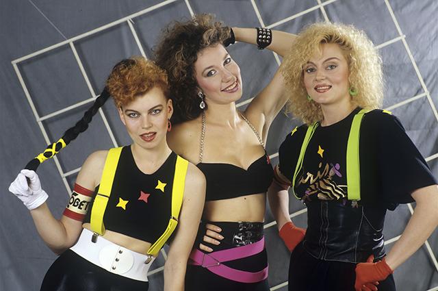 Советская группа Женсовет . Российская певица Лада Дэнс - крайняя слева