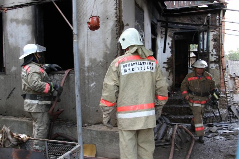 Пожар в станице Холмской