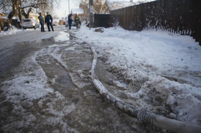 Улица Горького после аварии.