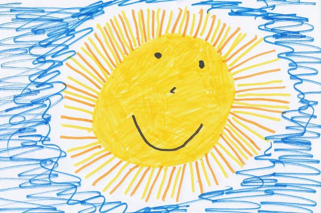 солнце рисунок