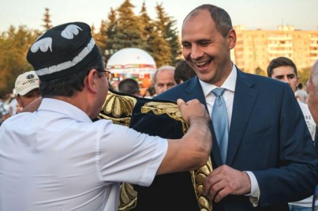 На праздновании Дня народов Оренбуржья.