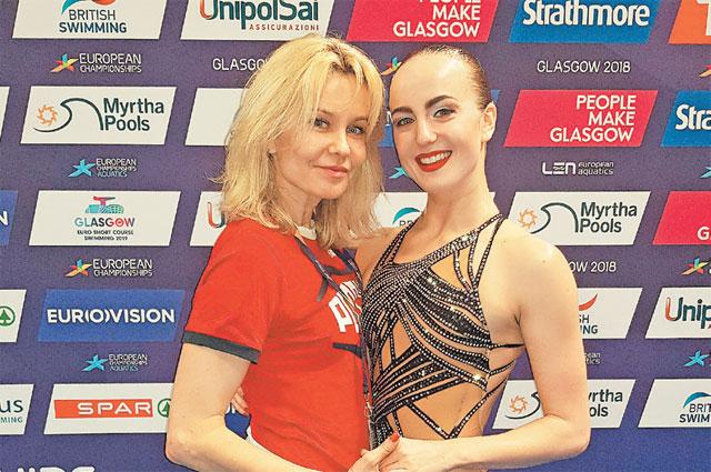 Мария Шурочкина со старшим тренером сборной России на чемпионате мира.