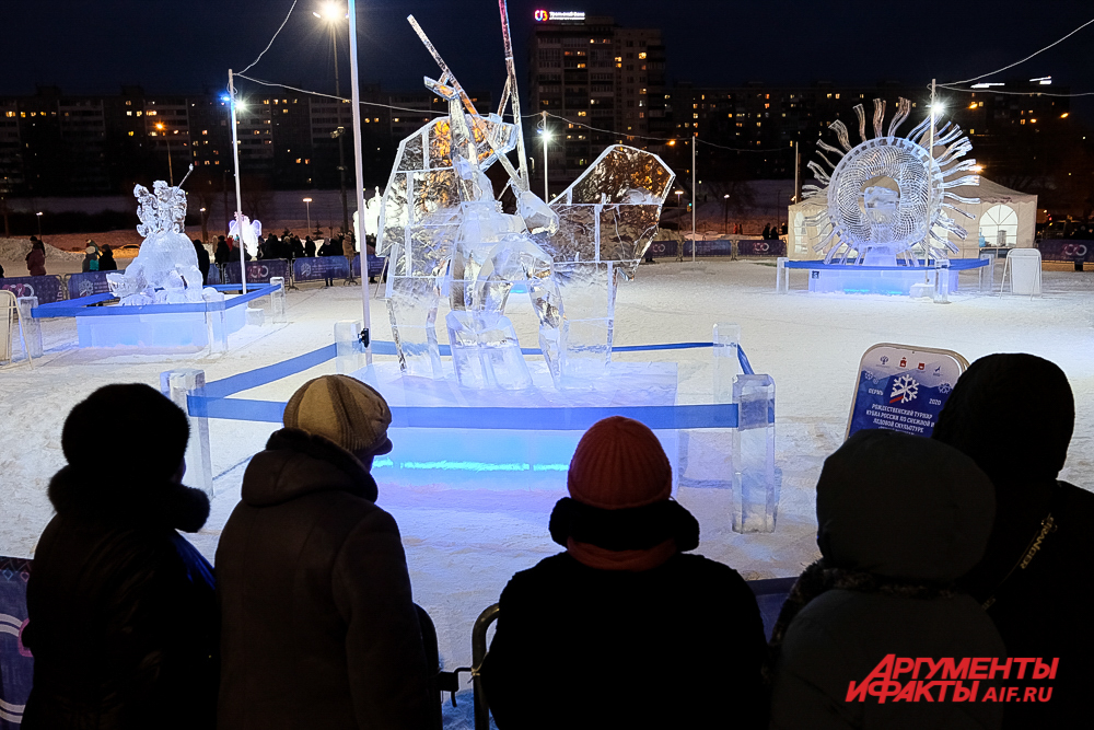 Рождественский турнир по ледовой скульптуре «Зимний Вернисаж»