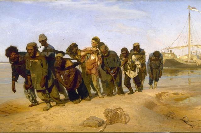 «Бурлаки на Волге». Илья Репин, 1870-1873 гг.