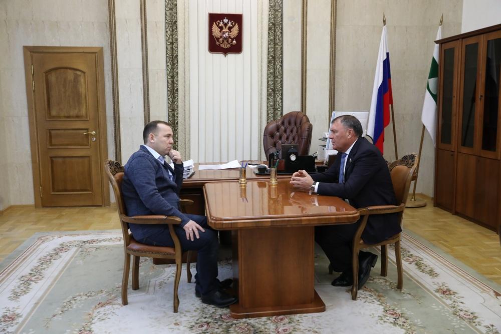Депутат ГД встретился с губернатором Курганской области Вадимом Шумковым.