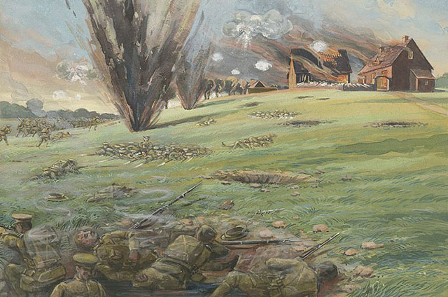 «9 A.M., 22 апреля, 1915 г.». Художник Артур Нантель.