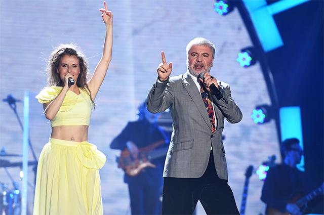Сосо Павлиашвили с супругой Ириной Патлах.