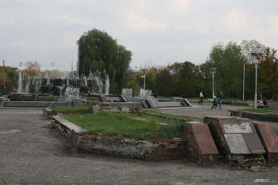 Состояние брянской Набережной до ремонта.