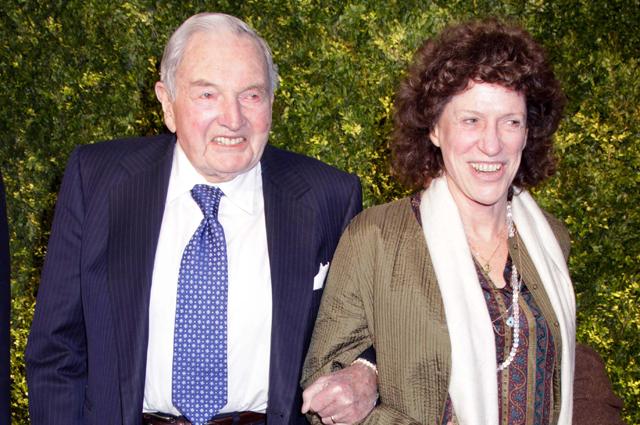 Дэвид Рокфеллер с дочерью Пегги