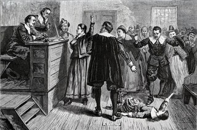 Салемские ведьмы в зале суда.