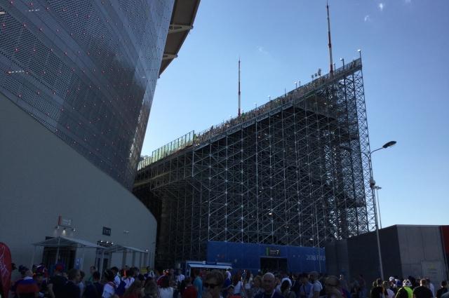 Выносные трибуны после чемпионата мира демонтируют.