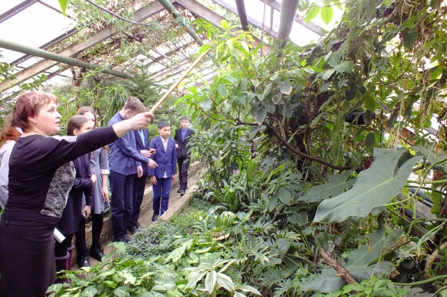 Постоянные гости Ботанического сада - школьники и студенты Читы.