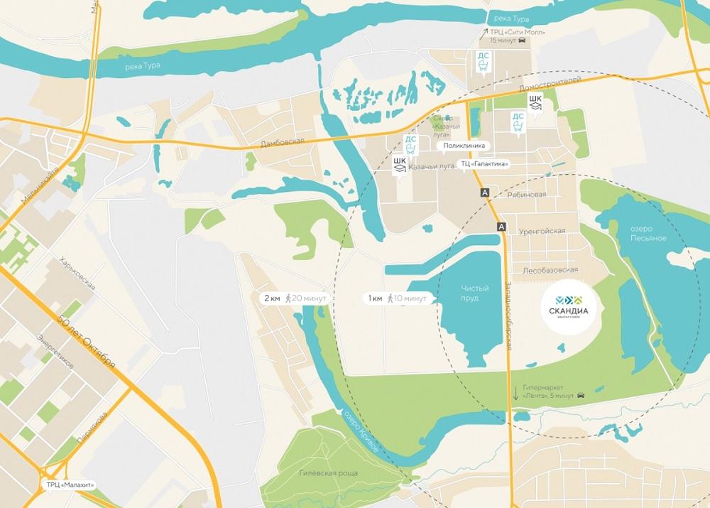 Карта месторасположения домов