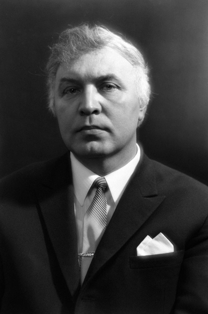 Виктор Иванович Балашов, диктор Центрального телевидения СССР. 1971 год