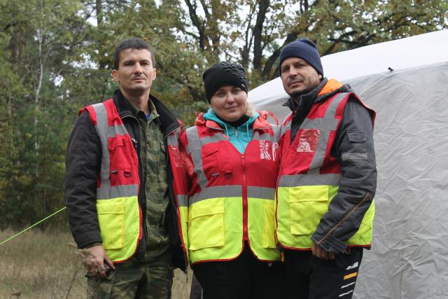 Участники поисково-спасательного отряда «Черноземье»