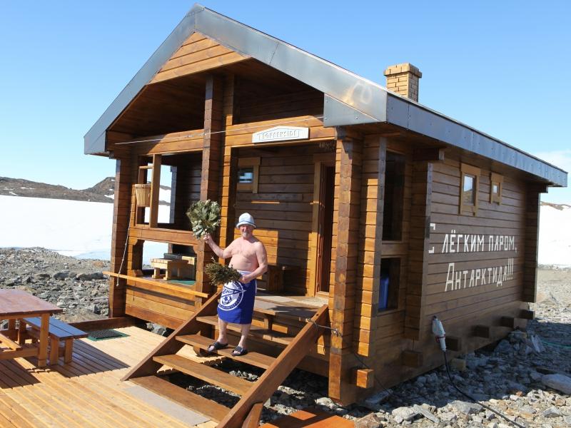 Баня, построенная полярником, попала в Книгу рекордов Гиннесса