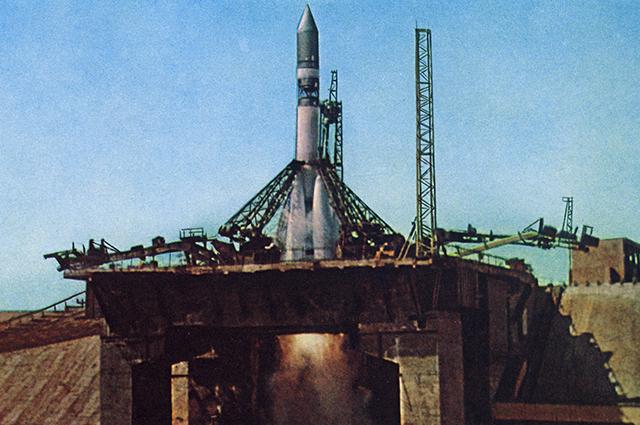 Запуск ракеты-носителя Восток