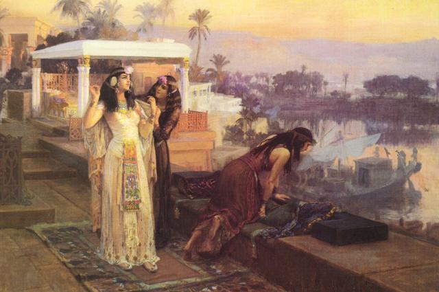 Клеопатра на террасах Филе. Картина Фредерика Артура Бриджмена