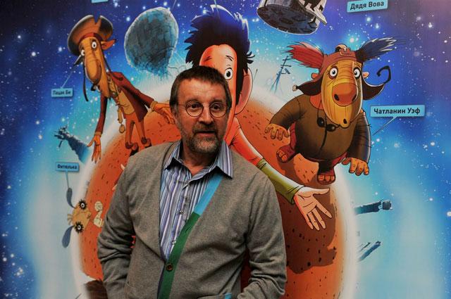 Леонид Ярмольник на премьере анимационного фильма Ку! Кин-дза-дза, 2013 год