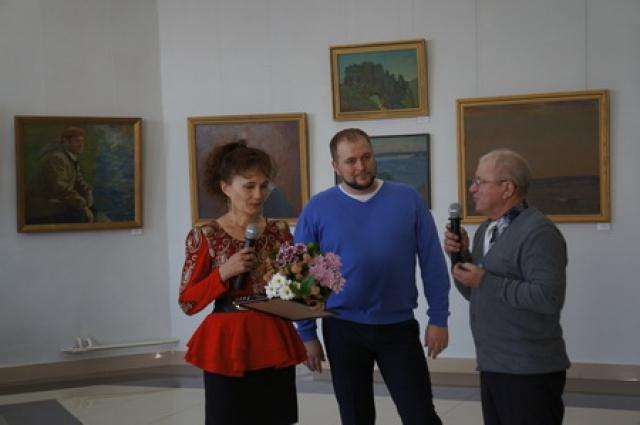 2016 год. Сила Головатый (в центре) на вручении премии имени Геннадия Головатова.