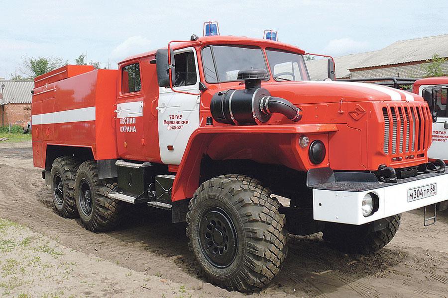 Пожарный автомобиль «Урал».