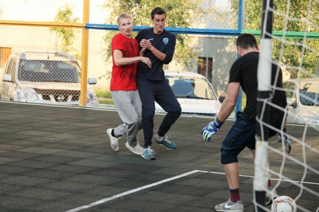 Дворовый футбол в Ханты-Мансийске