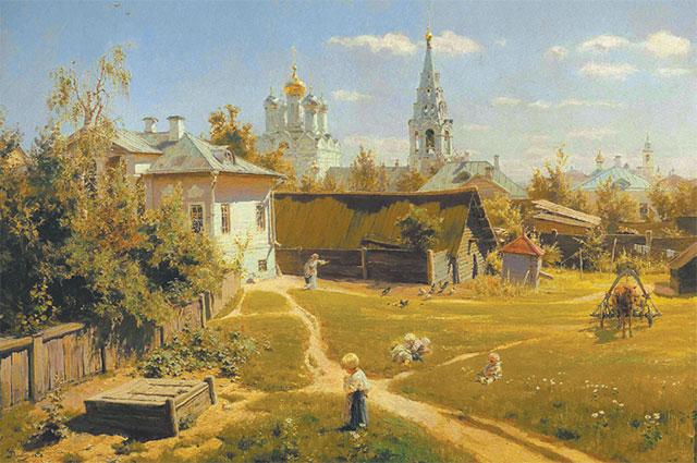 Картина «Московский дворик»,  Василий Поленов, 1878 г.