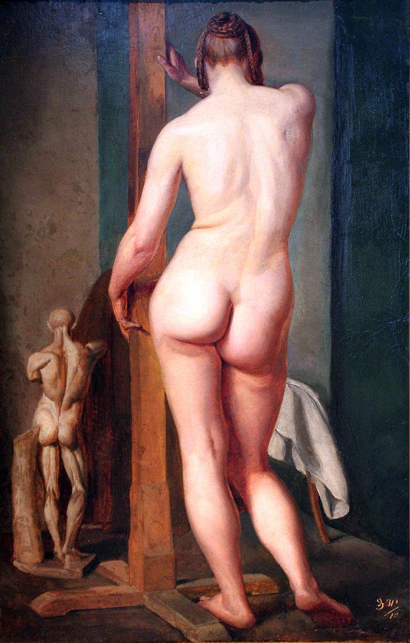 Юлиус Шнорр фон Карольсфельд. Обратная сторона женщины.