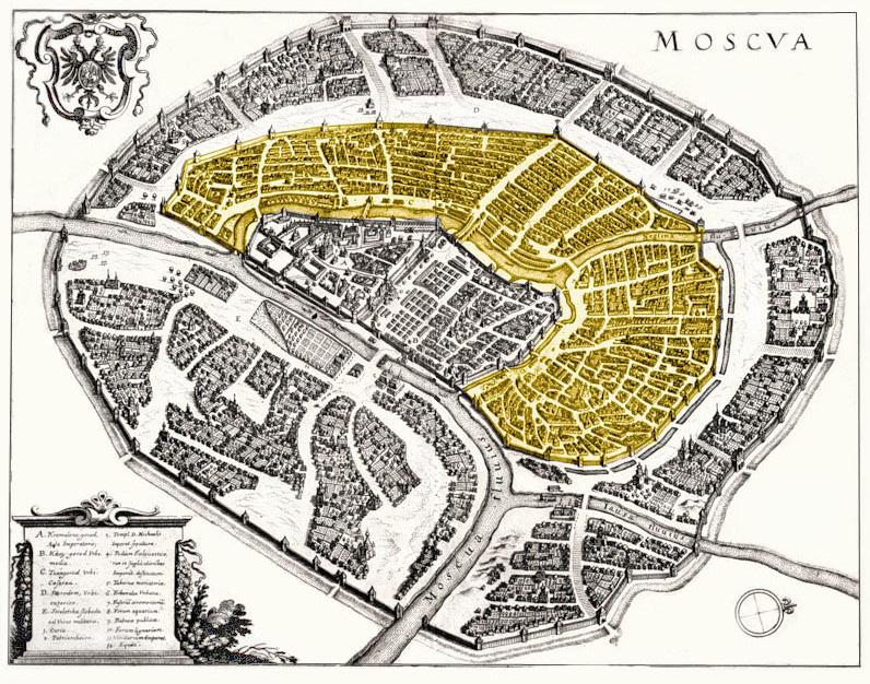 Карта Белого города