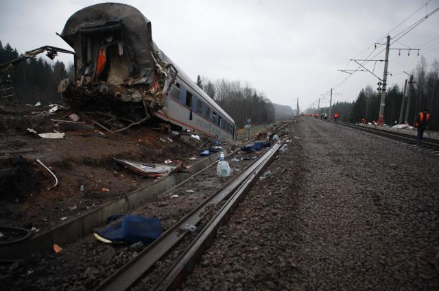 Крушение Невского экспресса в ноябре 2009 года.