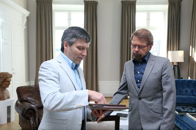 Дмитрий Богачев и Бьорн Ульвеус в Стокгольме накануне премьеры MAMMA MIA.
