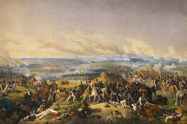 Репродукция картины Бородинское сражение. 26 августа 1812 года работы Петера фон Гесса