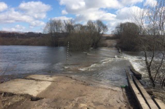 Затопленный мост.
