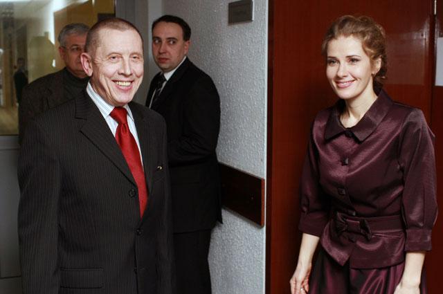 Валерий Золотухин сИриной Линдт в2009году.