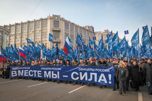 На праздничных мероприятиях колонны «ОФИЦЕРОВ РОССИИ» всегда одни из самых организованных и многочисленных.