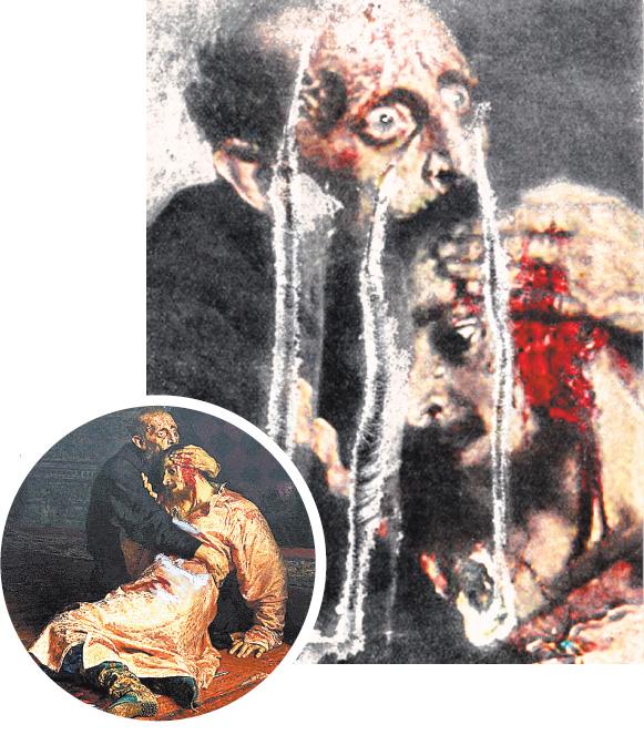 В первый раз картина пострадала 16 января 1913г. Три удара ножом нанёс 29-летний старообрядец Абрам Балашов.
