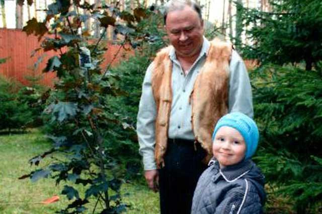 Андрей Караулов с сыном Василием