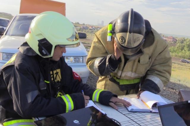 Пожар ликвидирован под Новотроицком.