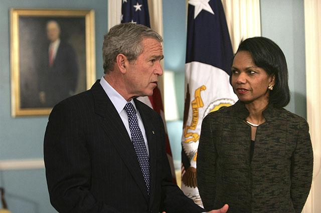 Джордж Буш-младший и Кондолиза Райс, 2006 г.