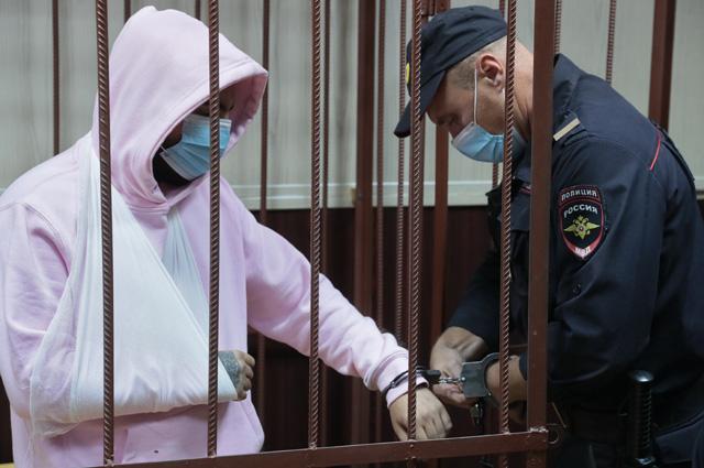 Музыкант Эльмин Гулиев в Таганском суде.