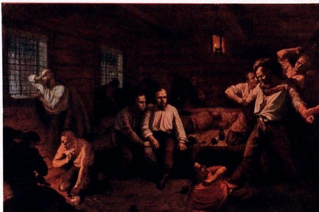 Картина Константина Померанцева. В центре узнаваем Достоевский.