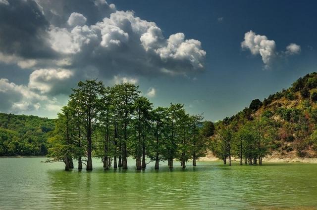 Кипарисовое озеро под Анапой.