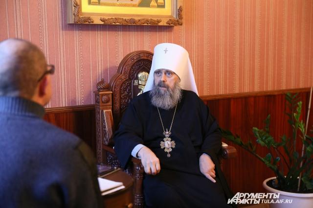 Интервью с митрополитом.